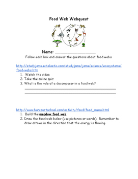 Food Web Webquest