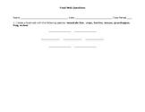 Food Web Worksheet & Stations