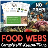 Food Webs Complete 5E Lesson - Distance Learning