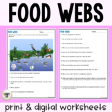 Food Webs & Ecosystem Roles - Practice - Print & Google Versions