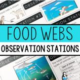 Food Webs Observation Stations | Printable and Digital | Distance Learning