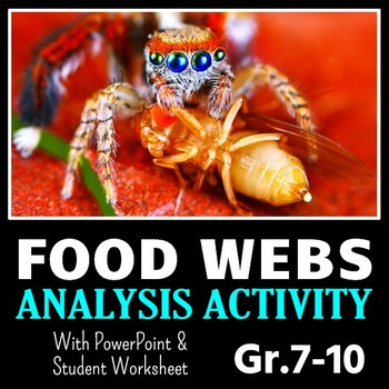 Food Webs PowerPoint Activity with Worksheet {Editable}