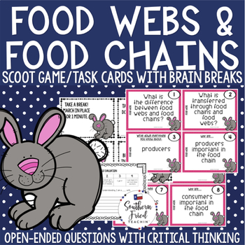 Food Webs & Food Chains Scoot Game/Task Cards