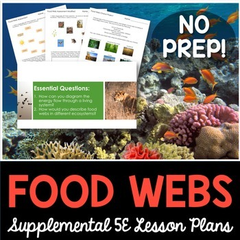 Food Webs - Supplemental Lesson - No Lab
