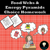 Food Webs and Energy Pyramids Choice Homework