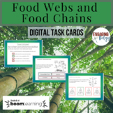 Food Webs and Food Chains Digital Task Cards