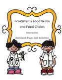 Food Webs and Food Chains Interactive Notebook Pages and Activites