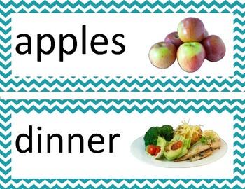 Food Word Wall