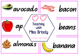 Food Word Wall Logo