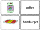 Food Word and Picture Cards (110 + pairs) and Many Ways to