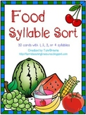 Food Words Syllable Sort