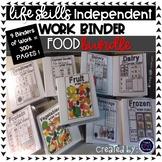 Food Work Tasks or File Folders **Growing BUNDLE
