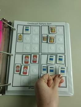 Food Work Tasks or File Folders