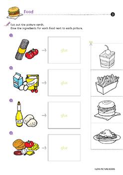Food Worksheets for Kids *Printables* by Worksheet Design Studio