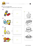 Food Worksheets for Kids *Printables*