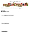 Food Writing Assignment