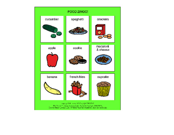 Food Zingo! [speech therapy and autism]