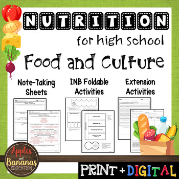 Food and Culture - Interactive Note-Taking Materials
