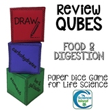 Food and Digestion Review Qubes Game for Life Science