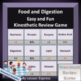 Food and Digestion Terminology -- Kinesthetic Review Game