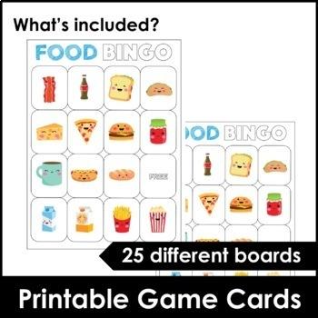 Food and Drink Bingo Game and Flashcard Set