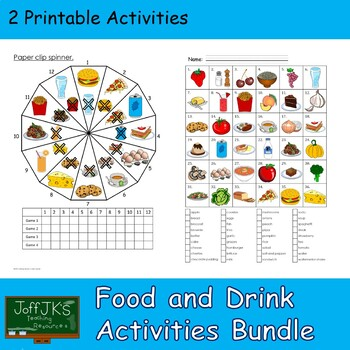 Food and Drink Games and Activities Bundle