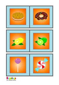 Food and Drink Similarities and Differences Spinning Wheel Semantics Game