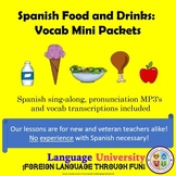 Food and Drink Spanish Vocabulary Worksheets
