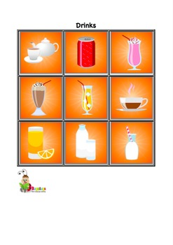 Food and Drink Vocabulary Cards