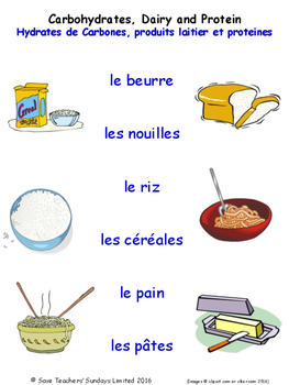 Food and Drink in French Matching Activities