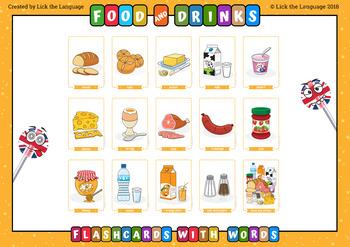 Food and Drinks - English Flashcards