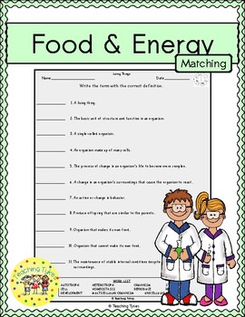 Food and Energy Matching