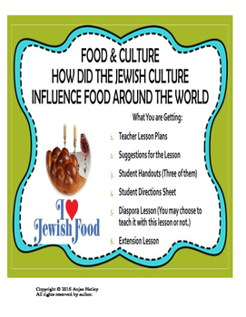 Food and It's Connection to Culture:Jewish Diaspora