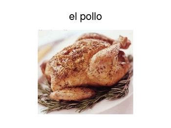 Food and Kitchen Spanish Vocab