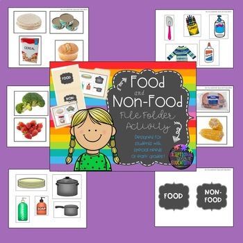 Special Education File Folder Activity: Food and Non-Food