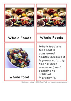 Food and Nutrition - Montessori Inspired Printable
