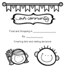 Food and Shopping in our Community- Life Skills Writing