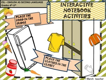 Food and clothes interactive notebook activity