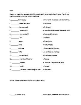 Food and culture quiz
