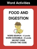 Food and digestion - Word Search Puzzle, Word Scramble,  Crack the Code
