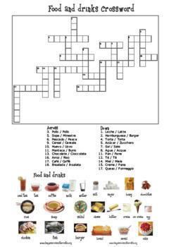 Food and drink BUNDLE: 1 Flash card, 2 activities & 1 Bingo game
