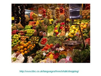 Food and drink / Quantities of food / Buying food / At the market