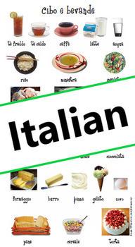Food and drinks: Cibo e bevande flash card (Italian - A1/A2)
