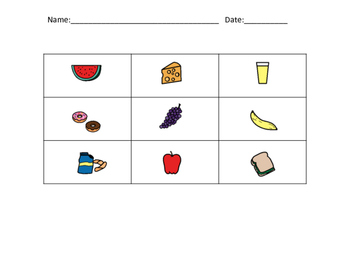 Food - bingo/memory/go fish