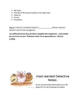 Food borne Illness Most Wanted Poster Project