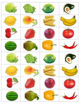 Food color sorting pictures