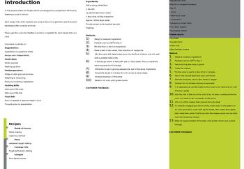 Food, cooking and catering homework takeaway menus