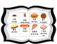 Food flashcards with Pinyin and Chinese words