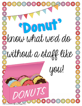 Food for the Teachers' Souls {Morale Boosters and Treats for Teachers and Staff}