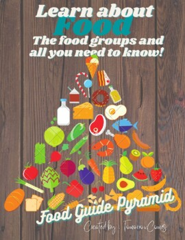 Food groups: Food Pyramid, Food Plate, Information, Worksheets